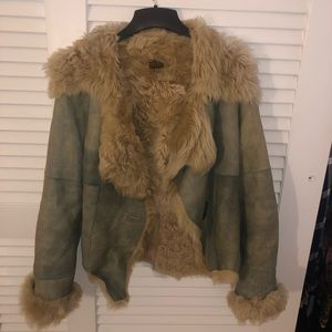 Plein Sud Jeans Sheared Coyote Fur Jacket